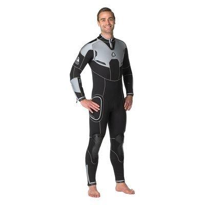 WATERPROOF W4 Wetsuit: Men's 5mm Back-Zip Fullsuit