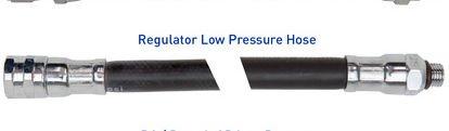XS SCUBA Rubber Low Pressure Regulator Hoses