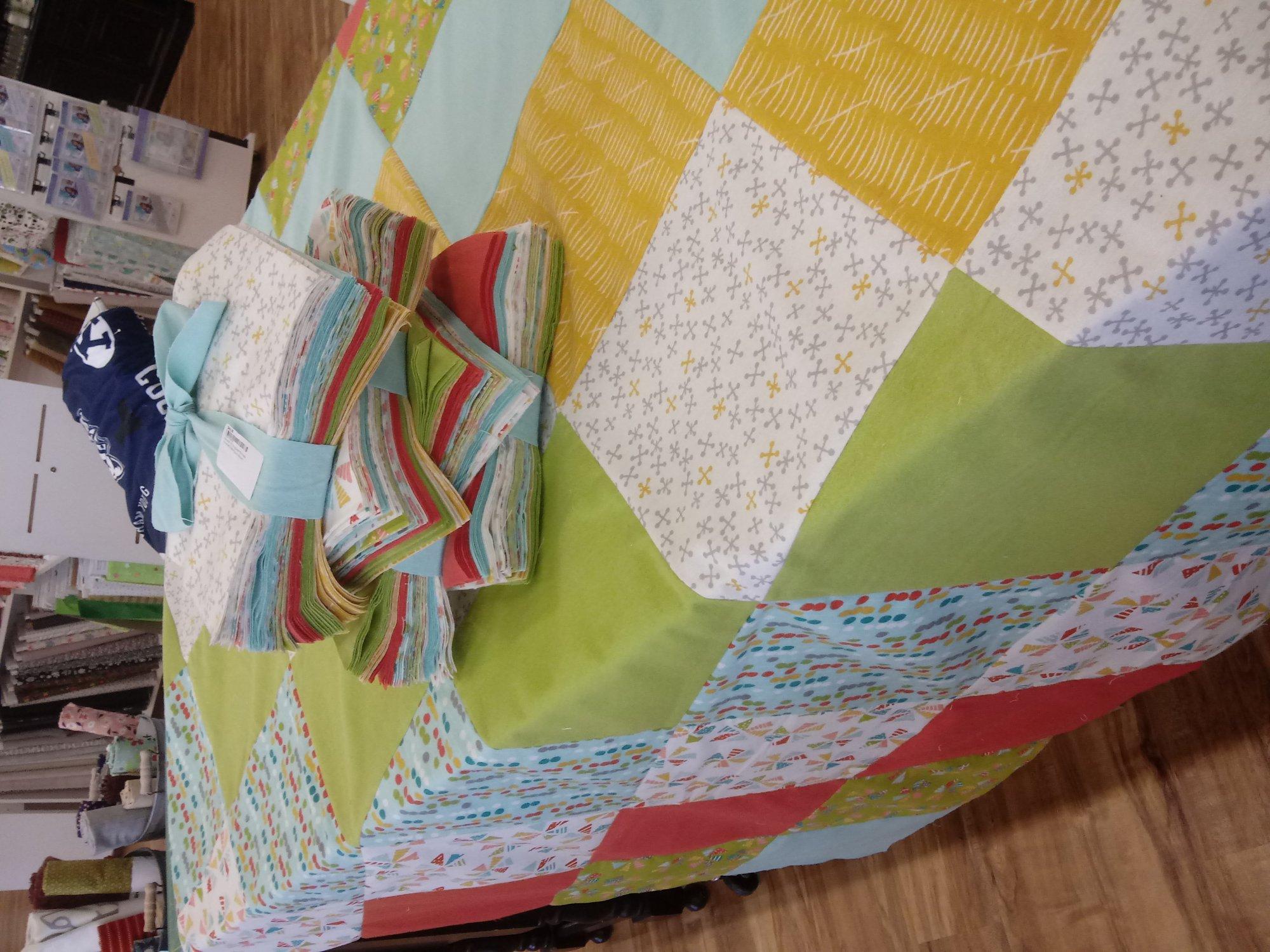 Flannel 10 Snugglers-Pinwheels