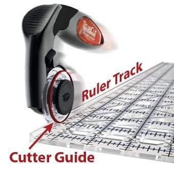 True Cut 45 MM Rotary Cutter and Ruler Combo