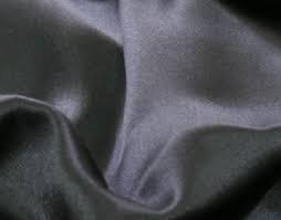100% silk lining black