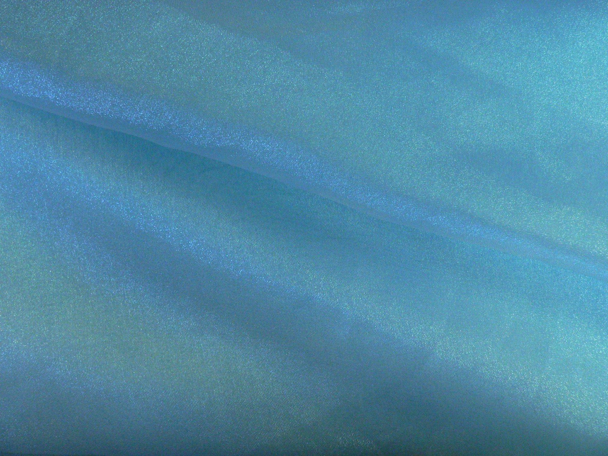 Organza, iridesent turquoise blue