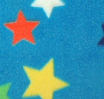Cozy fleece blue multi stars