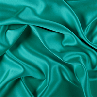 Silk charmeuse with spandex, bright teal