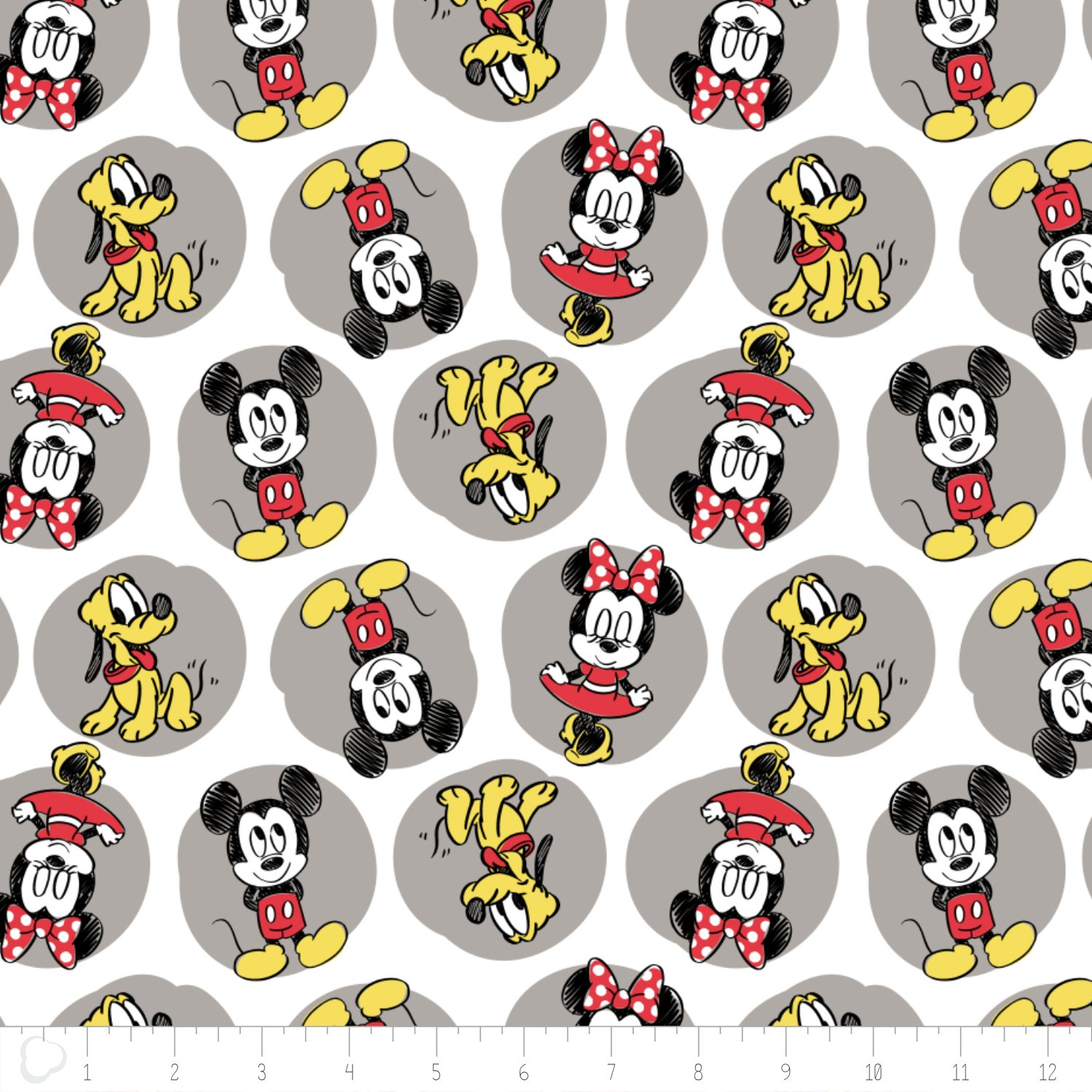 Mickey, Minnie, Pluto flannel