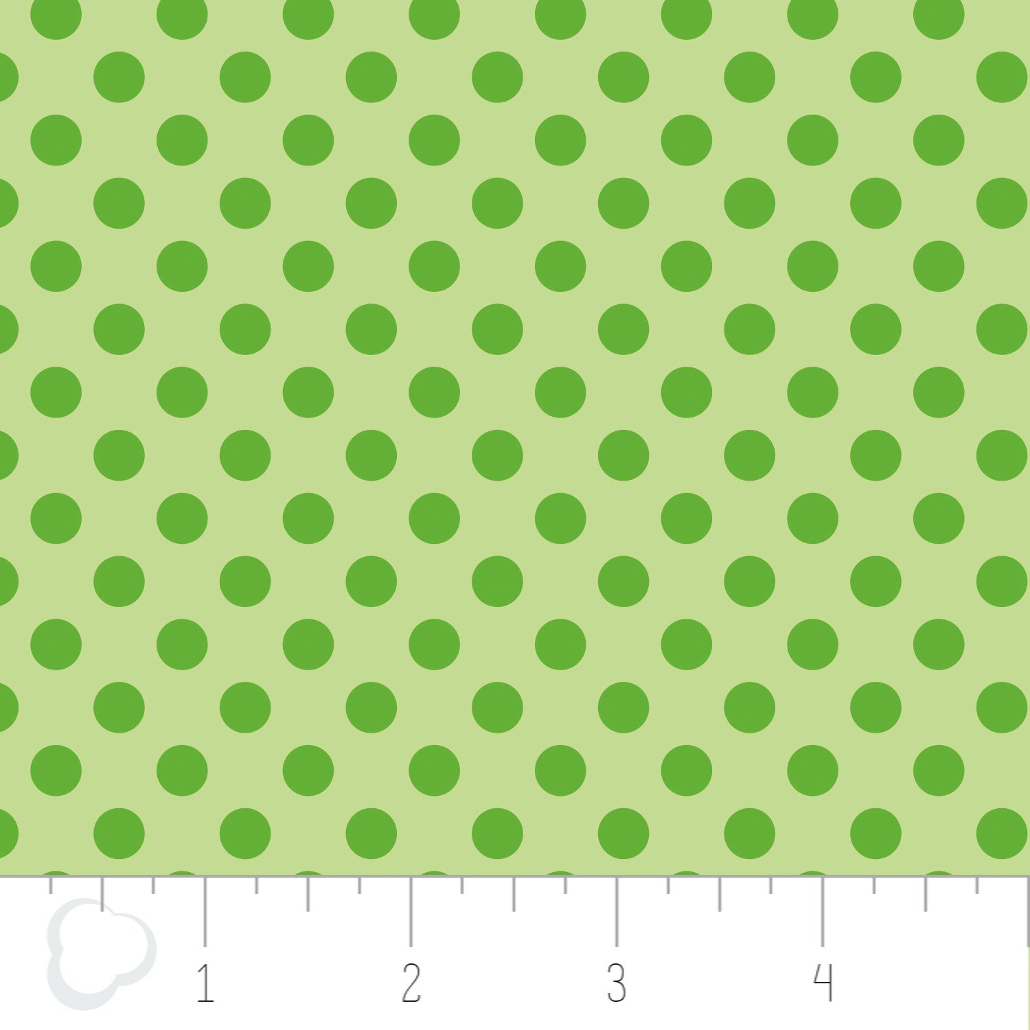 Green Polka dots flannel