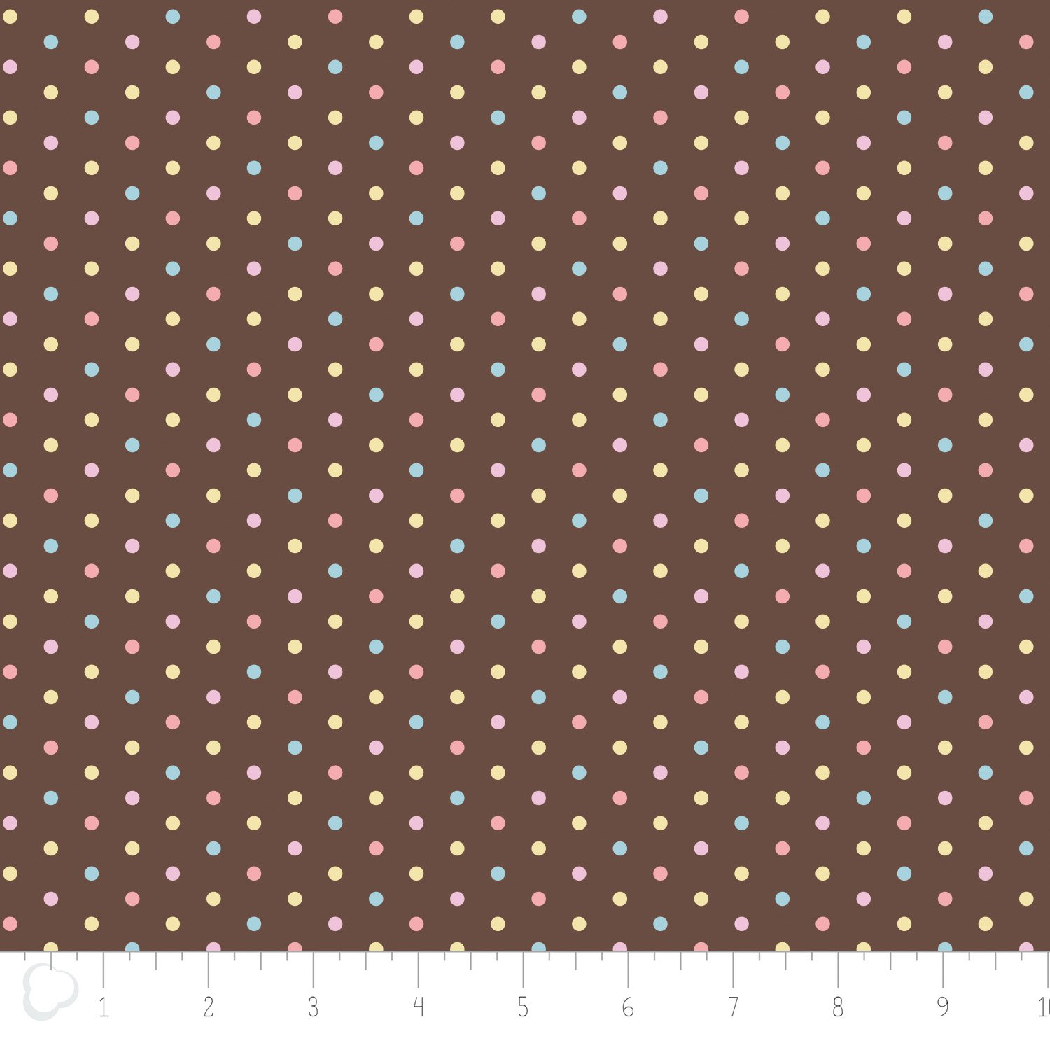 Dots in brown flannel