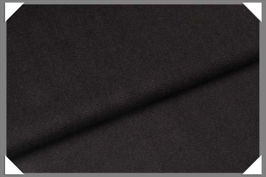 100% wool flannel black