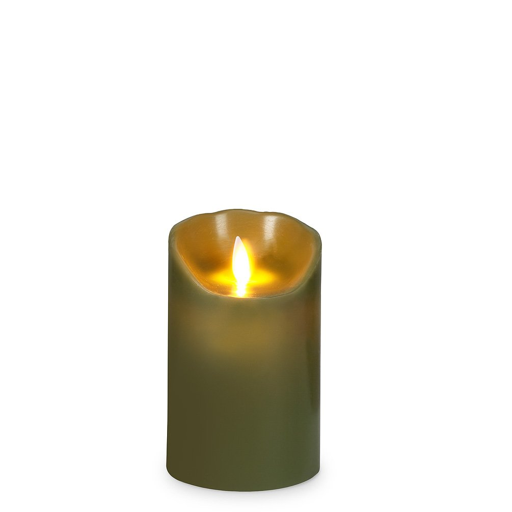 Reallite green flameless candle