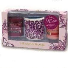 Heart and home Votive Set, Mulberry, Pink Grapefruit