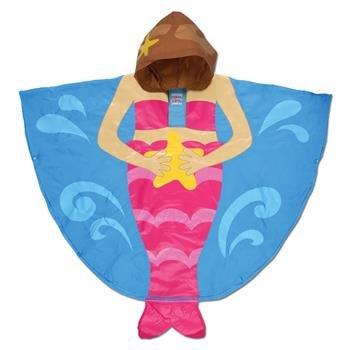 Rain poncho mermaid