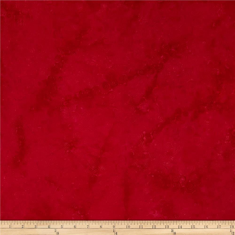 100% rayon batik, red