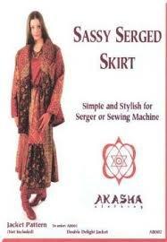 Sassy serged skirt