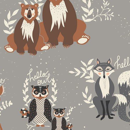 Hello Bear Animals on Grey