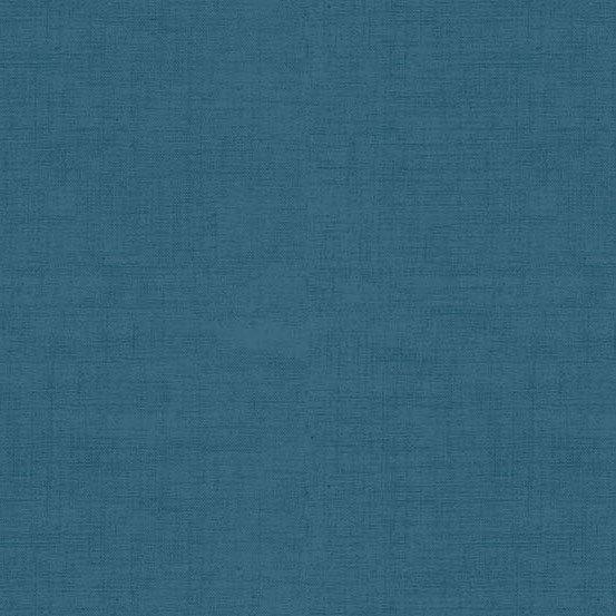 Linen Texture Ocean Blue