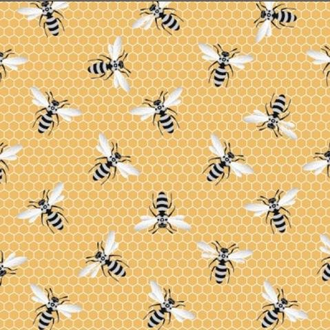 Queen Bees on Yellow