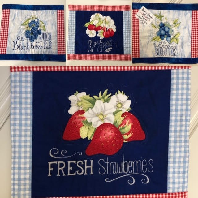 Berry Sweet Placemats set of 4
