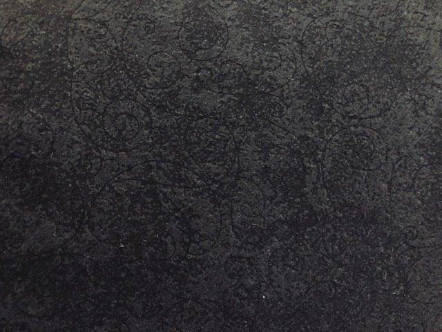 Black Scroll Flannel Wide Backing 110in