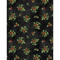 Angel Song Black Holly Print