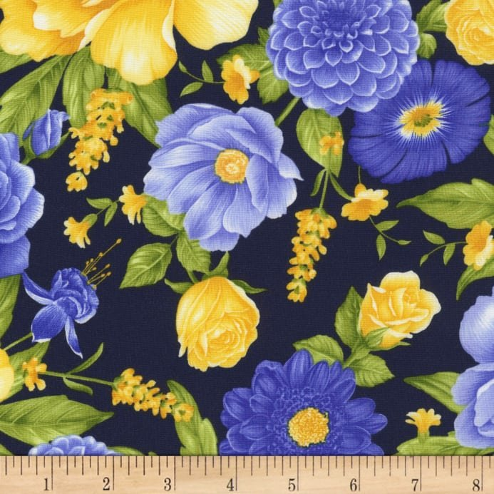 Angelica Large Blue Floral