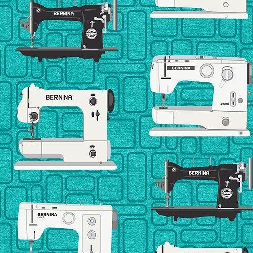 Sewing Theme - Bernina Vintage on Teal