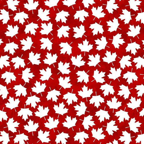 Canadianisms Red with White Maple Leaf