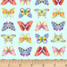 Fresh Country Blue Butterfly Print