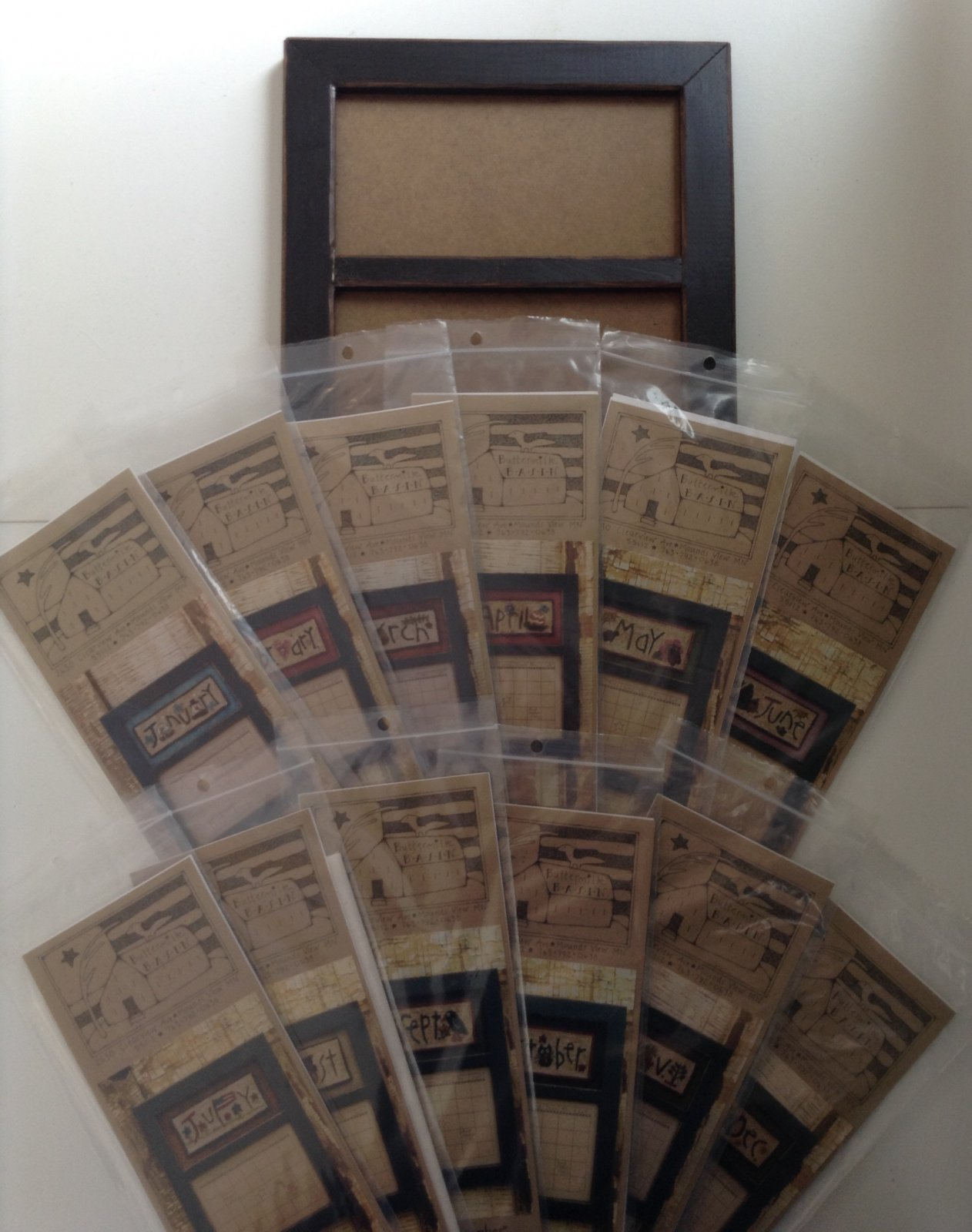 Punch needle, complete calendar kit