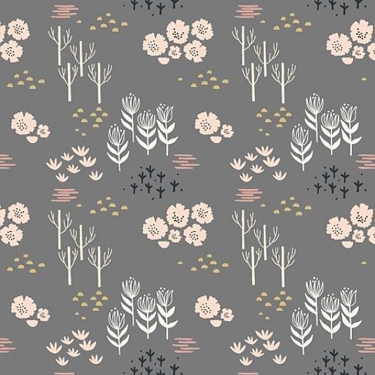 Dovestone Grey Floral