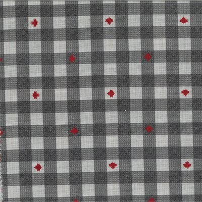 True North 2 Grey Plaid w/ Red Maple Leaf