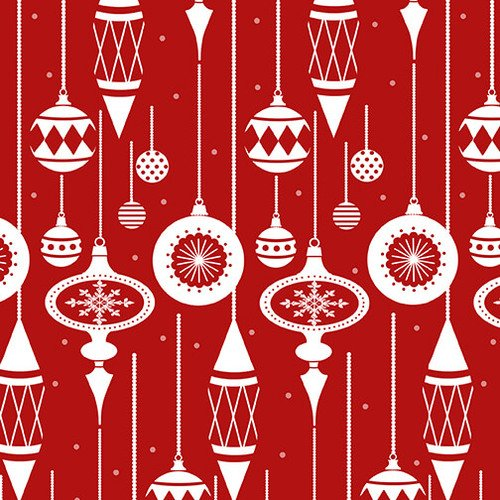 Holiday Lane Ornaments on Red