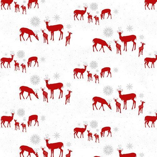 Holiday Lane Red Deer on White