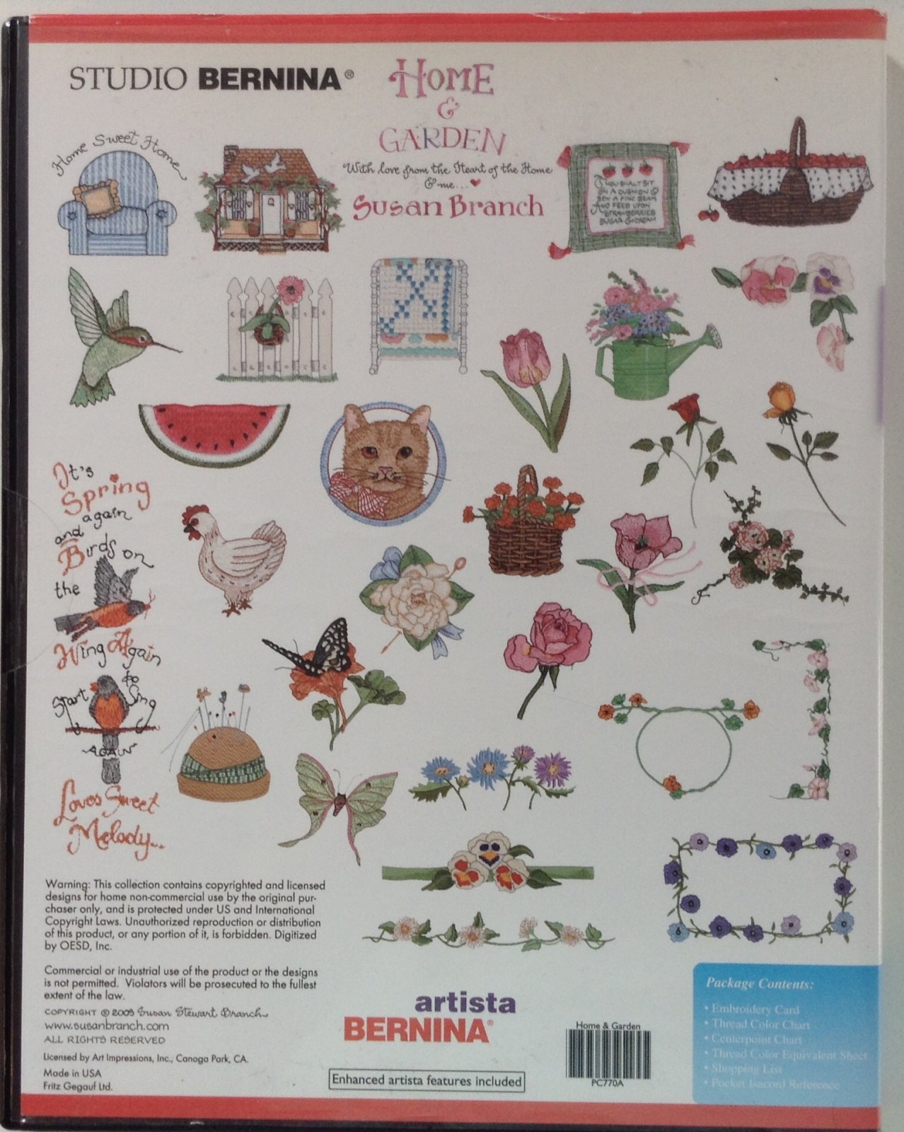 Home and Garden by Susan Branch, design card
