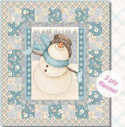 I still love snow flannel, quilt kit