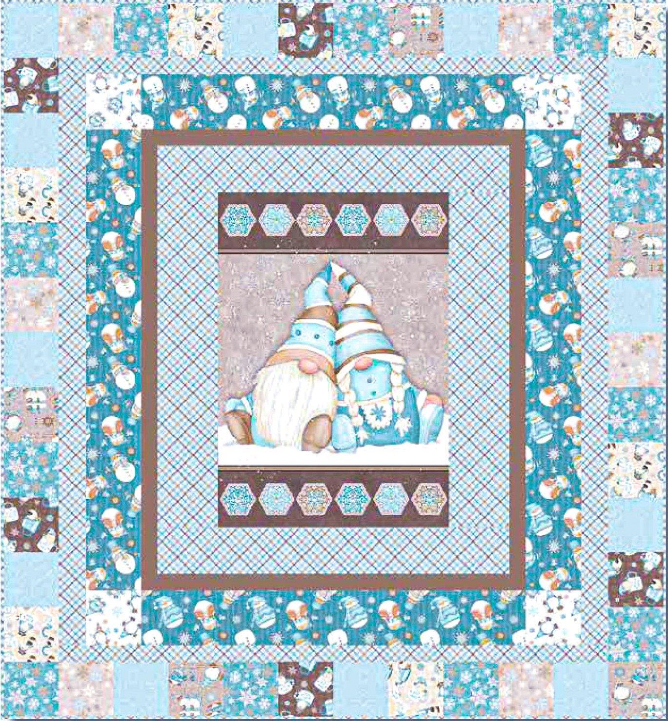 I Love Sn'Gnomies Flannel Quilt 1 Panel Kit