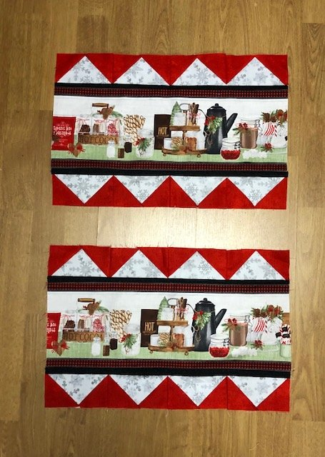 Hot Cocoa Bar Set of 4 Place Mats Incl Backing