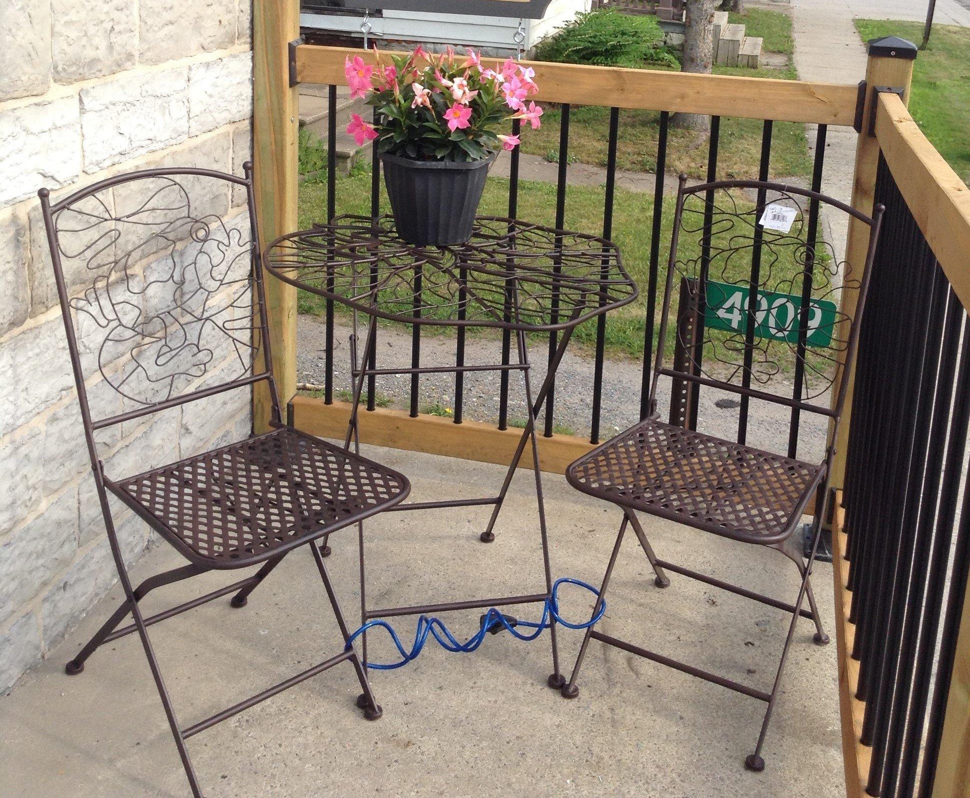 Iron patio set