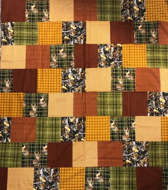 Flannel Man cave Finished Quilt Top