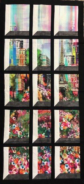 Paris Attic Window Quilt Top