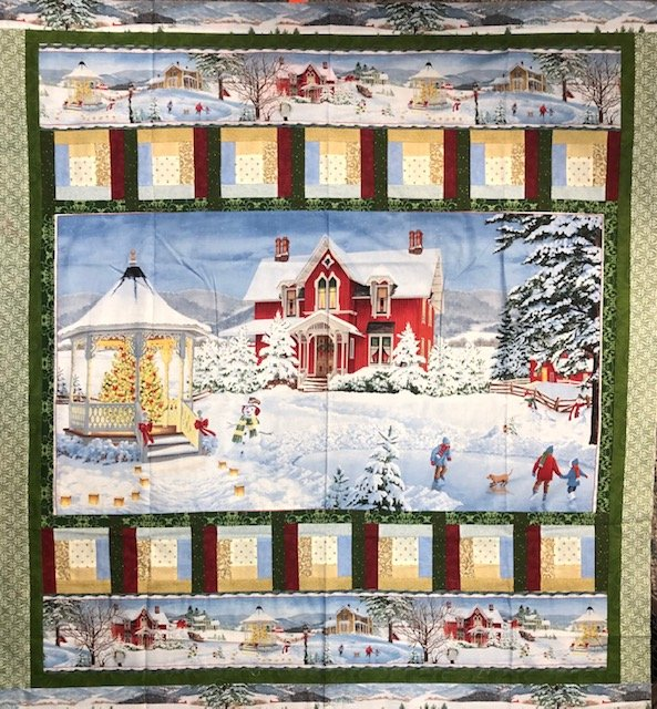 Snow day Finished quilt top