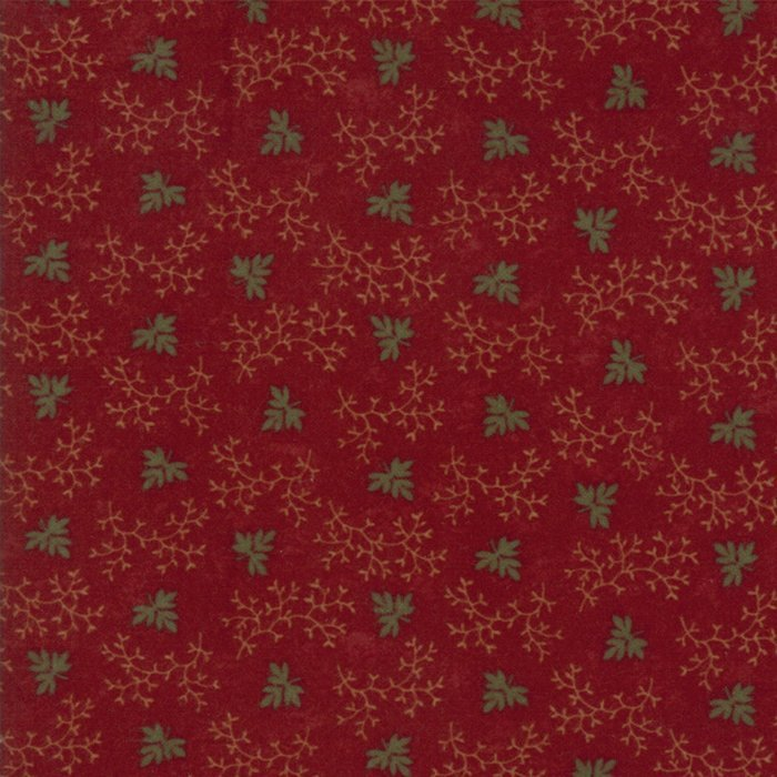 Country Road Flannel Red Leaf and Vine