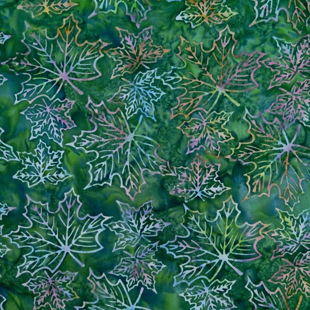 Green Maple Leaf Batik