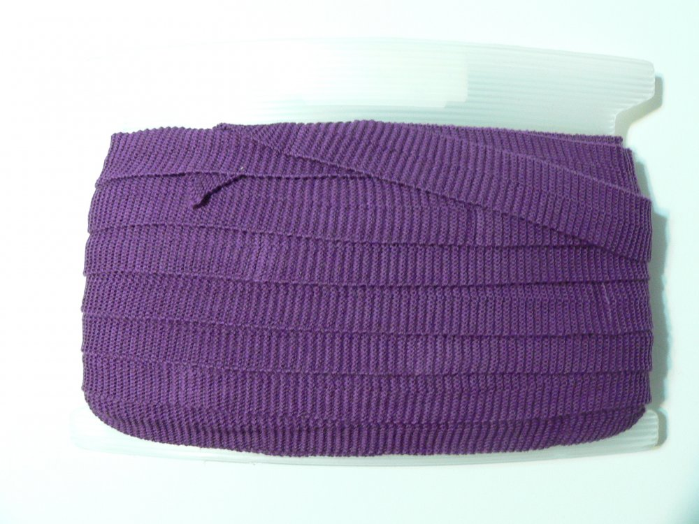 100% wool braid purple