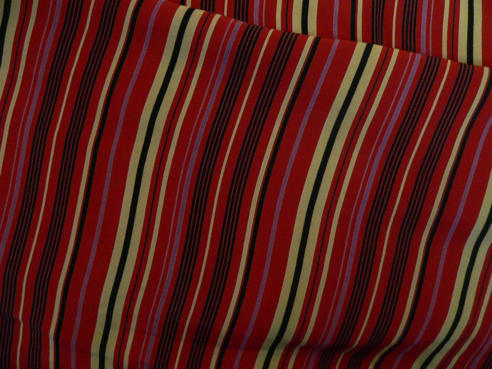 100% viscose stripe