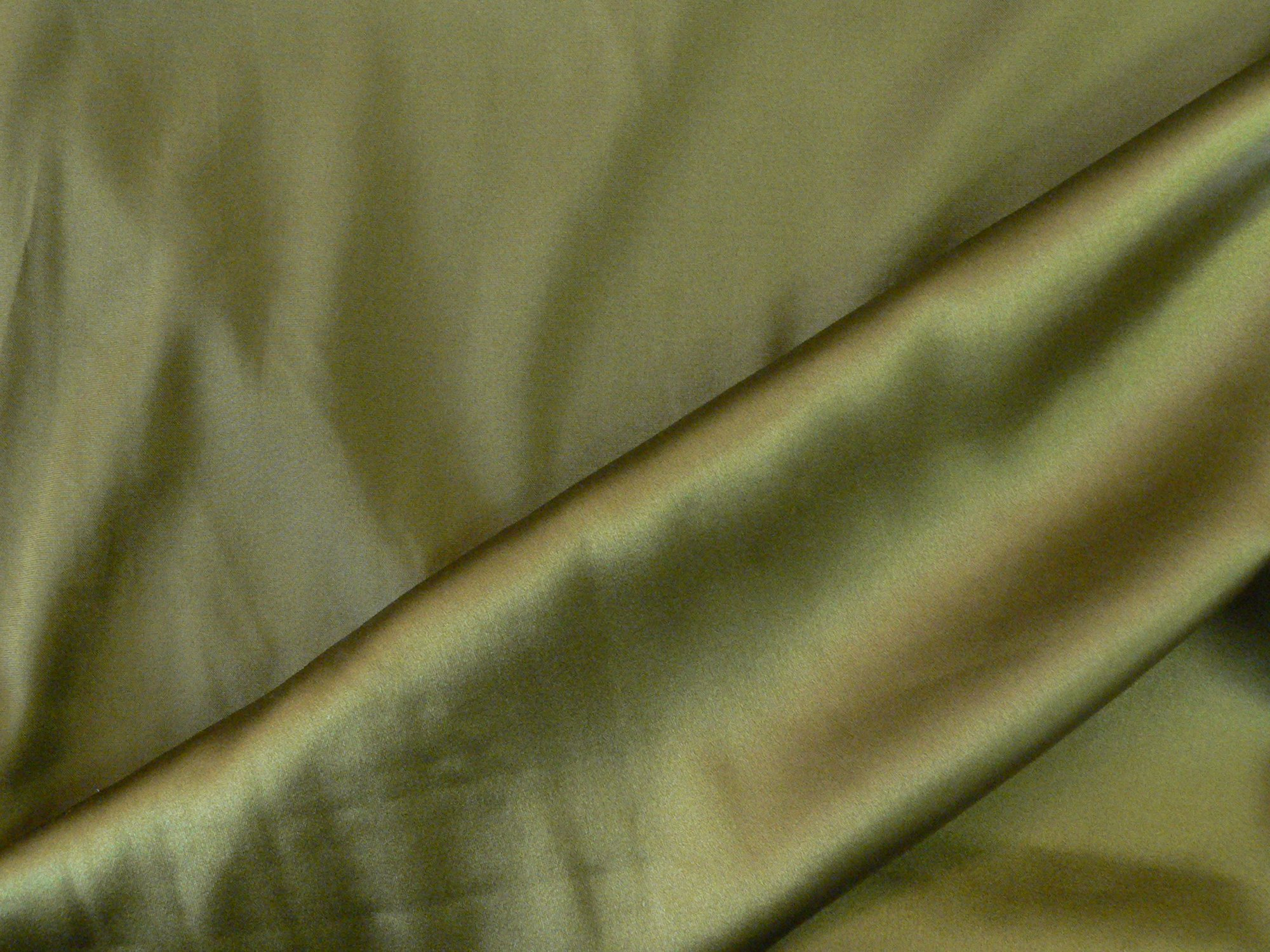 Silk charmeuse with spandex, dark olive green