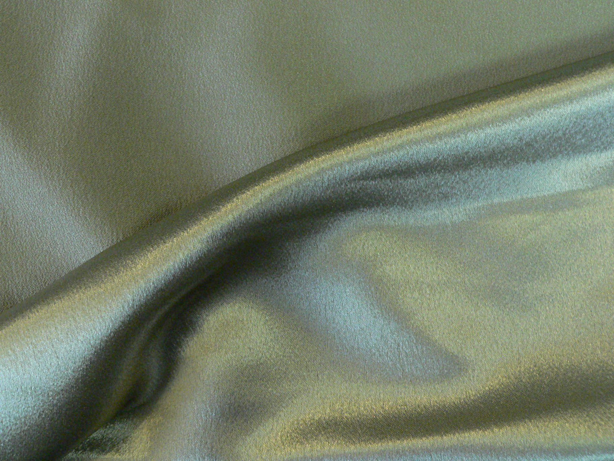Crepe backed satin, light olive green