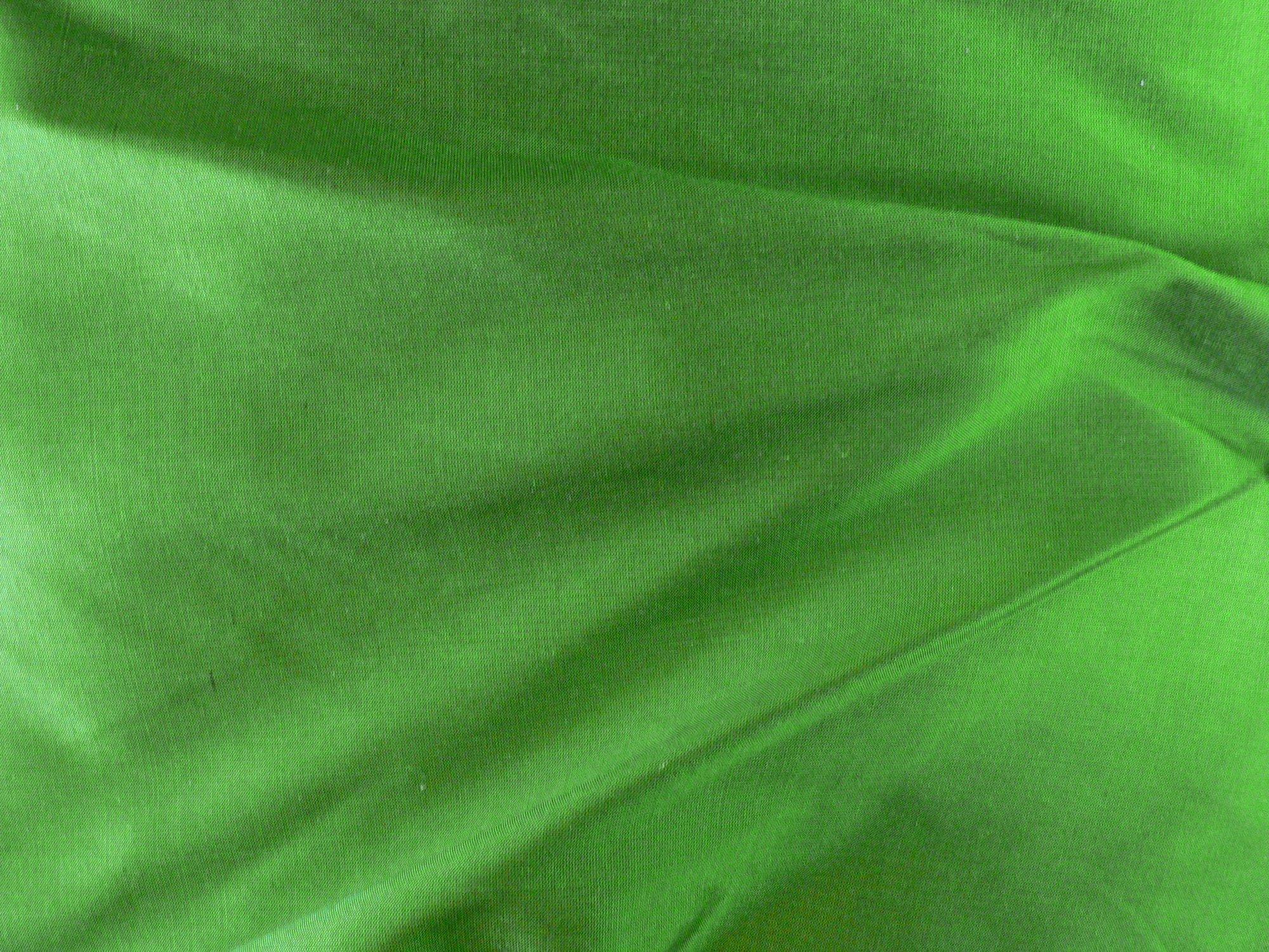 100% silk taffeta, dark chartreuse