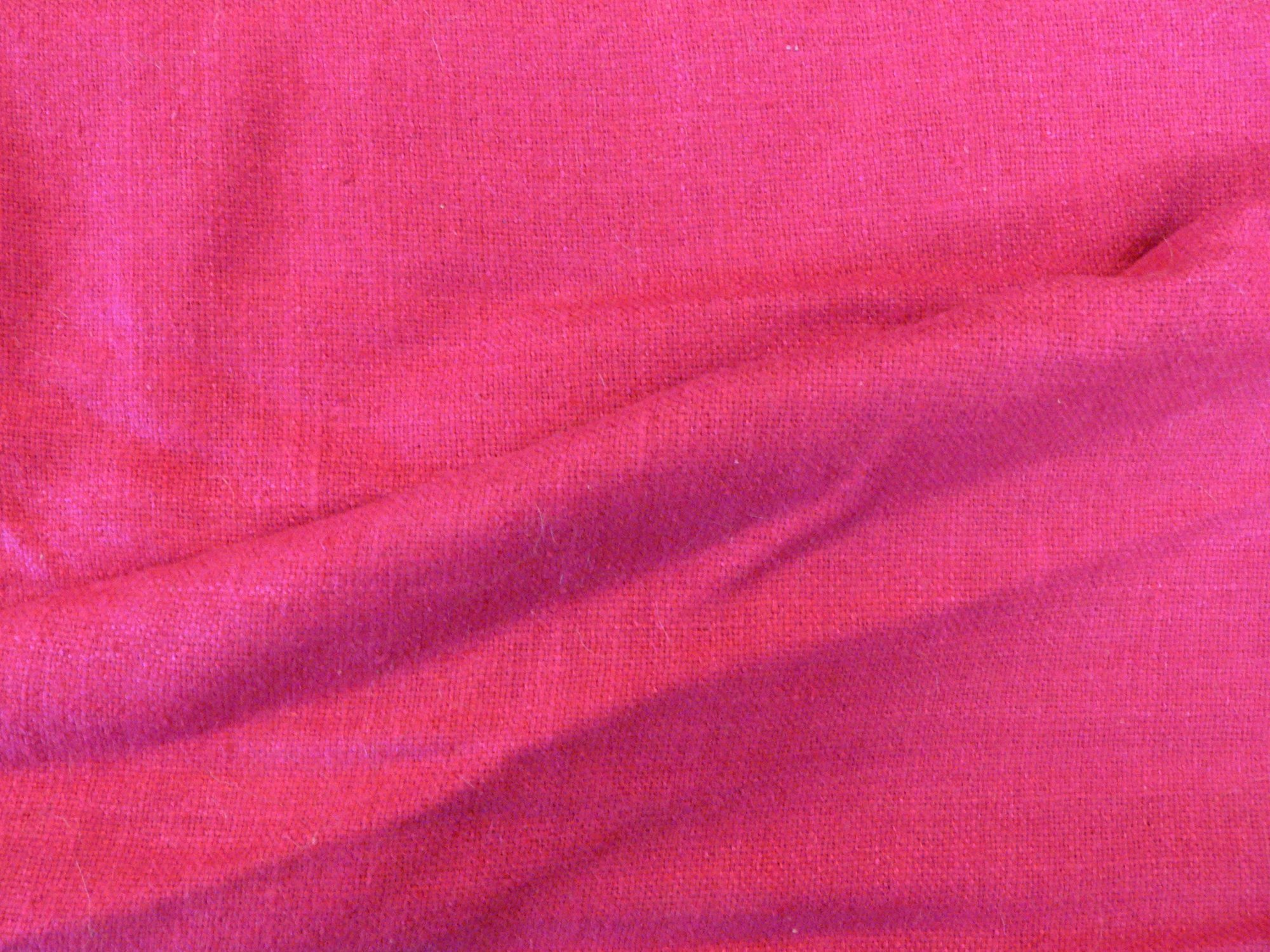 100% raw silk, handwoven, fushia