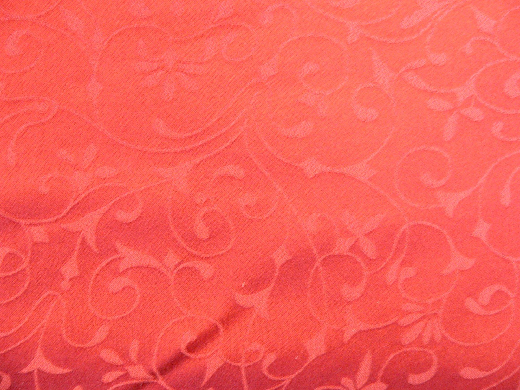 100% silk crepe de chine, jacquard red