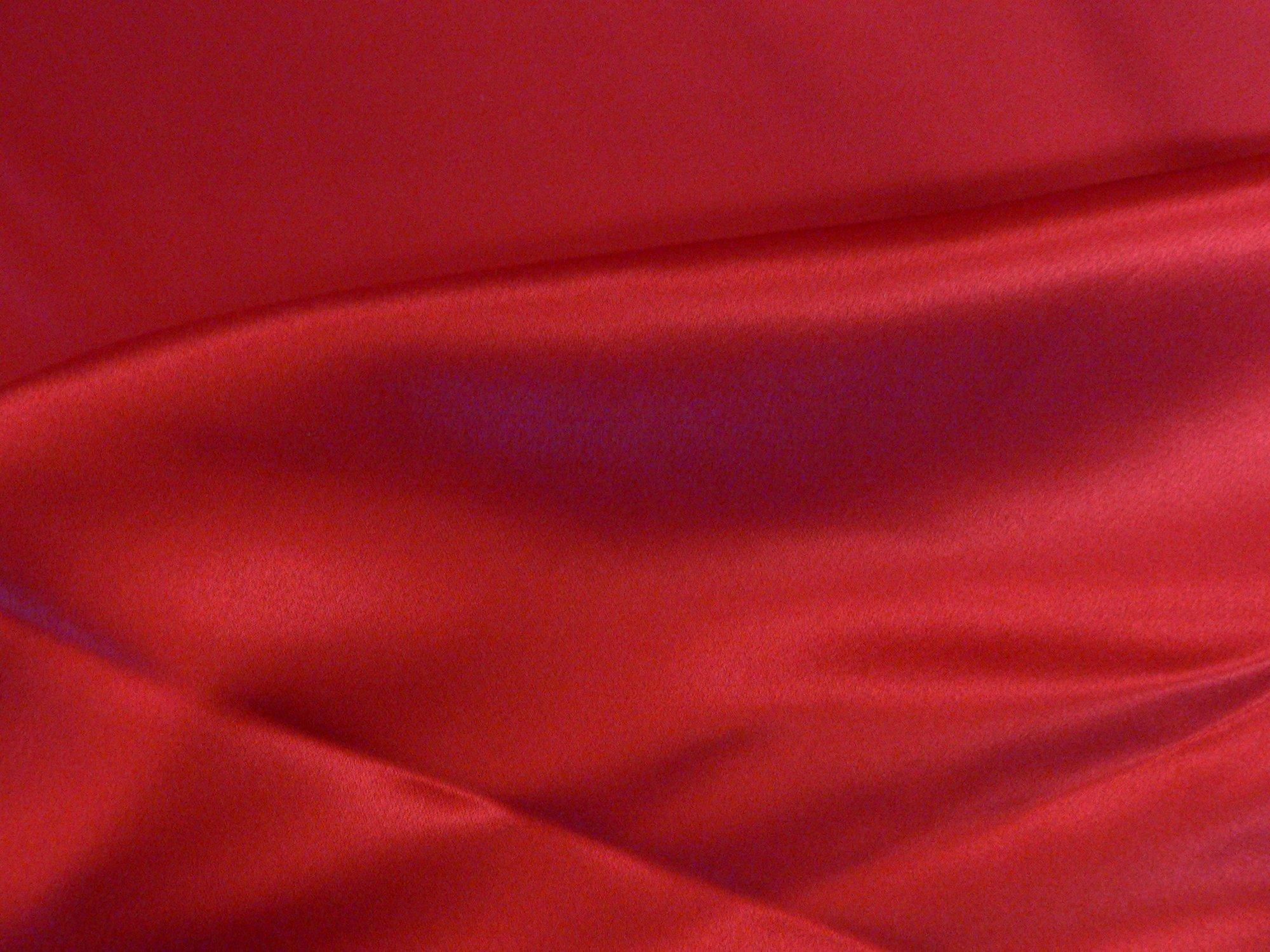 100% silk charmeuese, scarlet